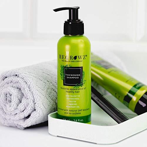 Regrowz Thickening Shampoo with Saw Palmetto, Biotin, Rosemary oil,...