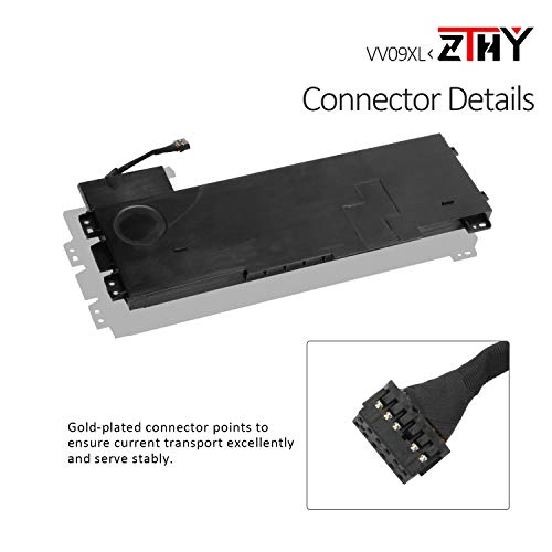 ZTHY New VV09XL Laptop Battery Replacement for HP ZBook 15 G3 G4 17 G3 Mobile Workstation Series HSTNN-DB7D 808398-2C1 808452-001 808398-2B1 11.4V 90Wh 9-Cell