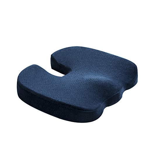 NADAEN Cojín de Asiento de Silla de Ruedas Cojín de Asiento antiescaras de Espuma viscoelástica Cojines de Soporte sillas de Oficina y Escritorio, conducción de automóviles,Azul