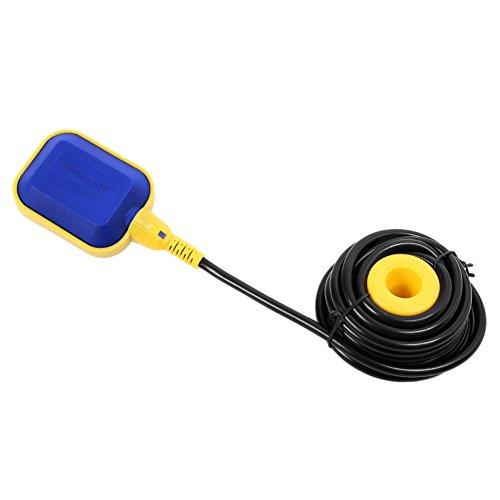 Boya Bomba,Interruptor Flotador Ajustable Automáticamente Interruptor de Nivel de Agua, Líquido Interruptor Flotador para Controlar y Proteger el Motor, Longitud del Cable: 10M