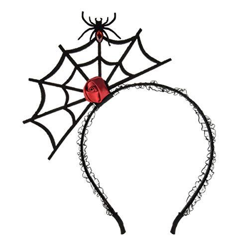 Merroyal - Diadema con diseño de calabaza y araña de Halloween