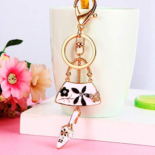 Sinzong Sleutelhanger voor dames, strass, schoenen, kleine schoudertas, autosleutelhanger, vrouwelijk schattige tas