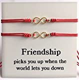 Love and Friendship Matching Bracelets for Best Friends Set of 2 Red String Bracelet