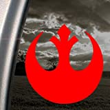 Pegatina para ventana de la Alianza Rebelde de Star Wars, color rojo.