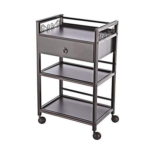 Trolleys 3-stufige Gebrauchswagen mit Schubladen-Aufbewahrungswagen, für Bürobedarf, Büromaterial und Organisation oder Salon - braun