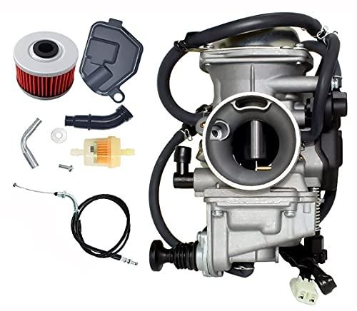 New TRX350 Carburetor Oil Filter w/ Throttle Cable Replace For Honda Rancher 350 TRX350 350ES 350FE...
