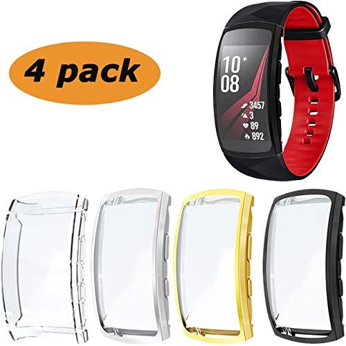 Ruentech Schutzhülle Kompatibel mit Samsung Gear Fit 2 Pro Schutzfolie Zubehör (4 Colors)