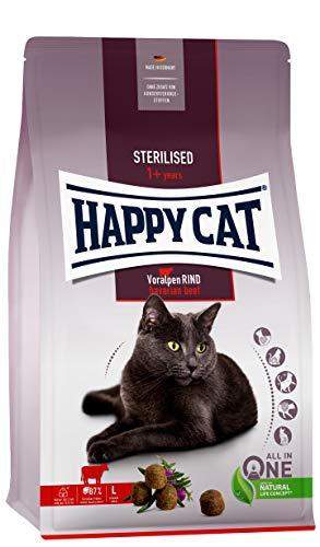 Happy Cat 70575 - Sterilised Adult Voralpen Rind - Trockenfutter für sterilisierte Katzen und Kater - 4 kg Inhalt