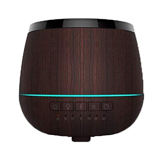 Vaporisateur Intelligent Ultrasonique De 200ml D'aromatherapy De Bluetooth avec 7 Lumières Colorées De LED pour La Pièce De Bébé, Maison,Spa,Woodgrain