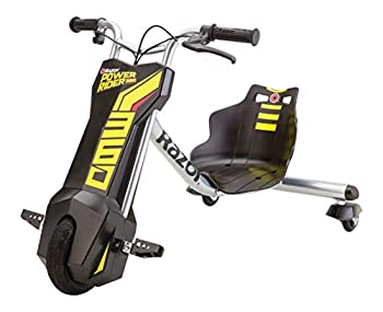 Razor Power Rider 360 Electric Tricycle Black Yellow 12 Volt