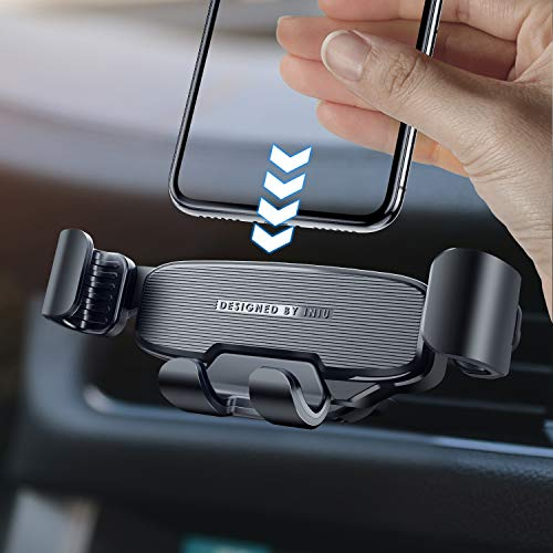 INIU Car Phone Mount, Gravity Auto Lock & Release Air Vent Phone Holder for Car 360° One Handed Car...