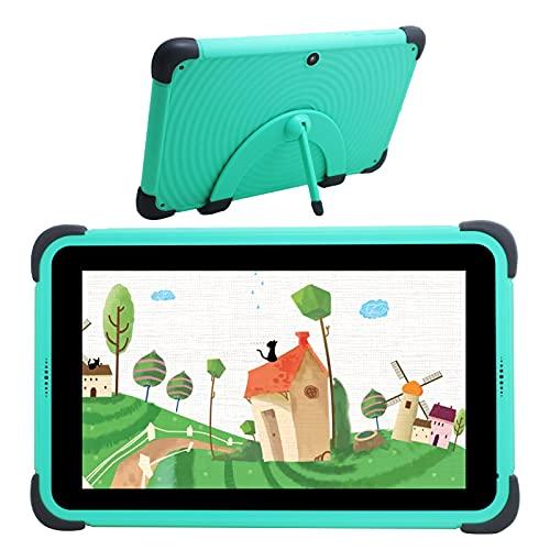 Kids Tablet Android 10 Tablet 2 GB RAM 32 GB Speicher, Kidoz vorinstallierte und übergeordnete Steuerung, IPS HD-Display, WiFi-Tablet, zwei Kameras, kindersichere Hülle (grün)