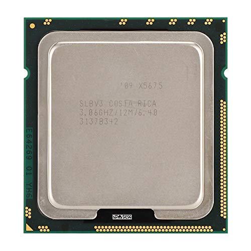 ASHATA per Intel Xeon X5675 Six-Cor dodici Thread 3.06 GHz 12 MB di Cache Versione Ufficiale CPU LGA1366, consumo di energia 95 W, Cache 12 M, Forte e Durevole.