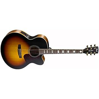 Cort cocj3 V de Tab Super Jumbo Cutaway – Guitarra electroacústica ...