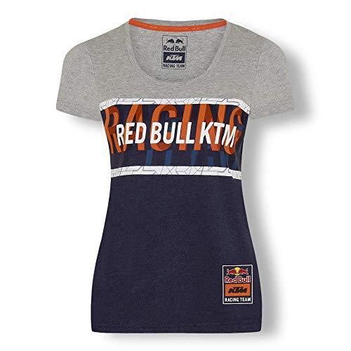 Red Bull KTM Letra Camiseta, Gris Mujeres Top, KTM Factory Racing Original Ropa & Accesorios