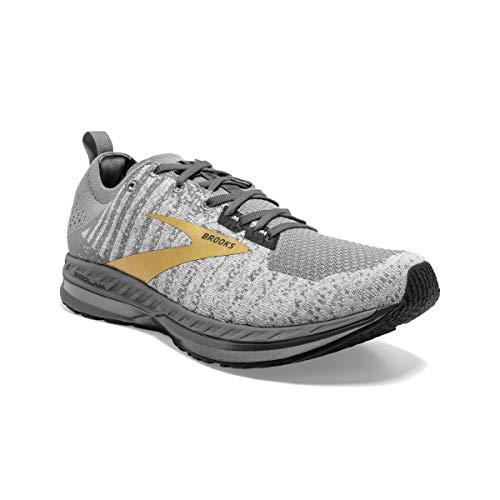 Brooks Mens Bedlam 2 Running Shoe - Grey/White/Gold - D - 9.5