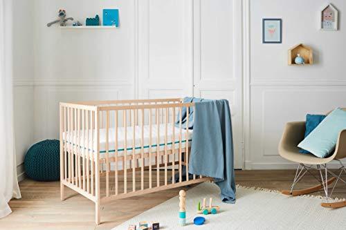 Babysom - Matelas Bébé Climatisé - 60x120 cm | OFFERT : 1 Protège Matelas...