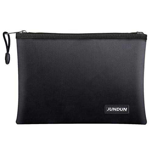 "JUNDUN Fireproof Document Bags,13.4""x 9.4""Waterproof and Fireproof Money Bag,Fireproof Safe..."