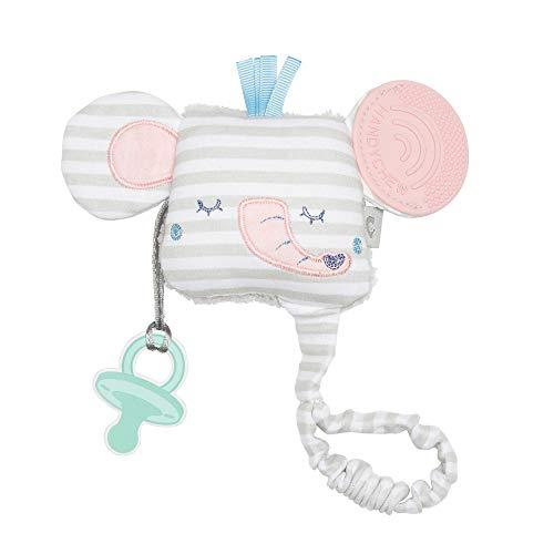 Cheeky Chompers – Giocattoli per la Dentizione – Adorabili giocattoli a tema animale con sonaglio e funzionalità sensoriali per una stimolazione sicura al 100% (Darcy the Elephant)
