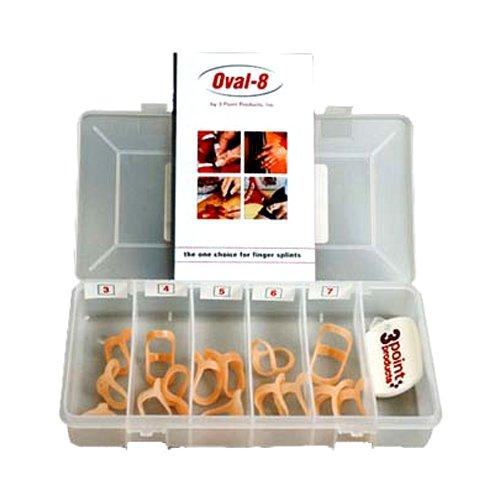 Oval 8   Finger Splint   Finger Schiene   kleines Set   15 Oval 8® Finger Splints in verschiedenen Größen in einer praktischen Aufbewahrungsbox