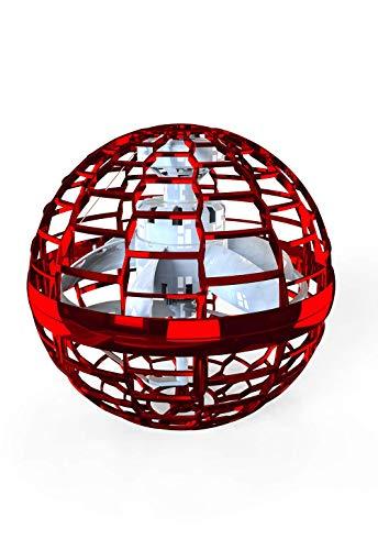 2020 Verbesserter Bumerang-Spinne, fliegenden Ball mit endlosen Tricks für Kinder und Erwachsene, Indoor-Flugspielzeug 360 rotierenden leuchtenden LED-Lichtern für Indoor Outdoor Geschenke (Rot)