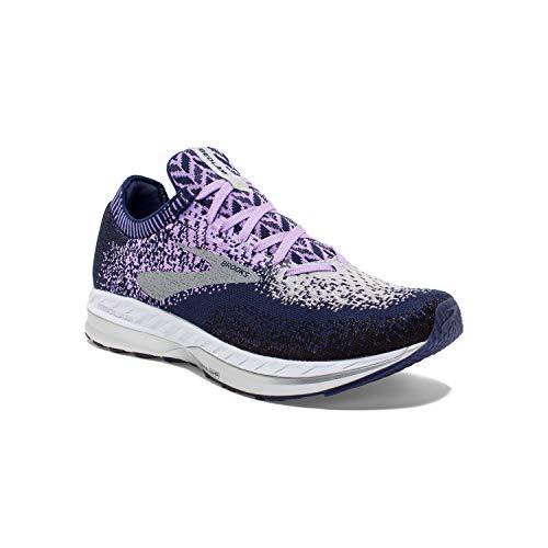 Brooks Womens Bedlam Running Shoe - Purple/Navy/Grey - B - 6.0