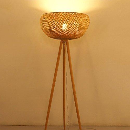 $stehlampe Bambus Rattan Stehleuchte, Study Schlafzimmer Wohnzimmer Einfache Lampen High 167CM (Farbe : A)