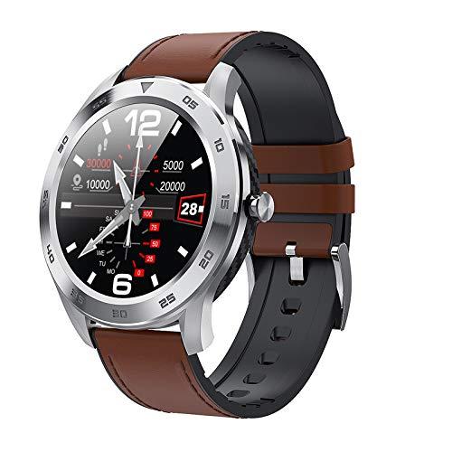 Smart Horloge Bluetooth Call ECG Heart Rate IP68 Waterdichte Sport Mannen Smartwatch Ios Voor Samsung Xiaomi Huawei Voor Iphone,Brown