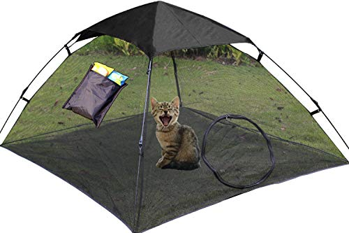 OUTING MAN Cat Tent Outdoor Playpen Pet Cat Enclosures Portable Sunscreen and Waterproof Cat...