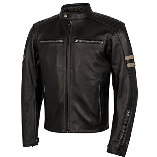 BSTAR Lem Legend Marron - Chaqueta Moto de Piel para Hombre (Talla, L)