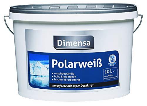 Wandfarbe weiß hochdeckend | Innenfarbe polarweiß Jetzt Wand- und Deckenfarbe weiss | 5 Liter