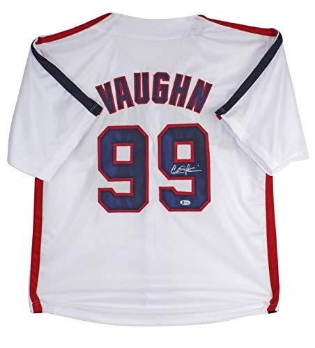 Charlie Sheen Major League Authentic Signed Ricky Vaughn Jersey BAS Witnessed
