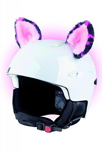 Crazy Ears Helm-Accessoires Ohren Katze Tiger Lux Frosch, Ski-Ohren geeignet für Skihelm, Motorradhelm, Fahrradhelm und vieles mehr, CrazyEars:Pinke Ohren
