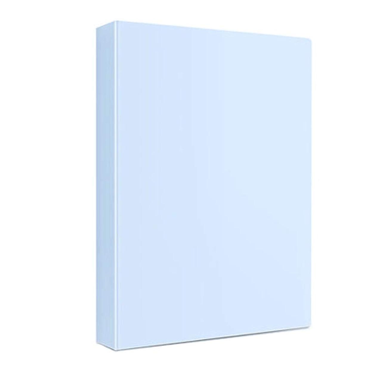 フォルダ事務用品A4ダブル強いクリップ情報フォルダ挿入本機能シングルクリップ多層ファイルバッグ情報ブック収納ボックス学生情報ブックプラスチックファイルフォルダセット事務用品 (Color : B, Size : 60 pages)