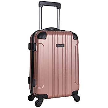KENNETH COLE REACTION Out Of Bounds Luggage Collection Lightweight Durable Hardside 4-Wheel Spinner Travel Suitcase Bags Rose Gold 20-Inch Carry On