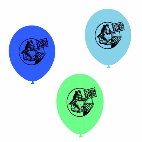 Party Großhandel Krimiparty Deko Luftballons Detektiv Flo, 8 St.