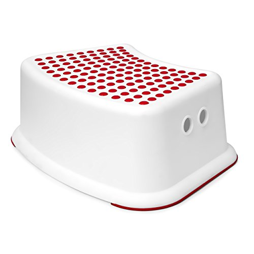 Red Step Stool for Kids - Great for Potty Training, Bathroom, Bedroom, Toilet, Toy Room, Kitchen, and Living Room. Perfect for Your House