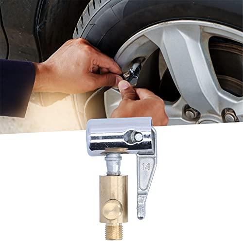 Surebuy Conector para inflar neumáticos, Adaptador de Bomba de Aire Boquilla de Bomba de Aire Herramienta de inflado de neumáticos Que Ahorra Tiempo de Metal para inflar neumáticos