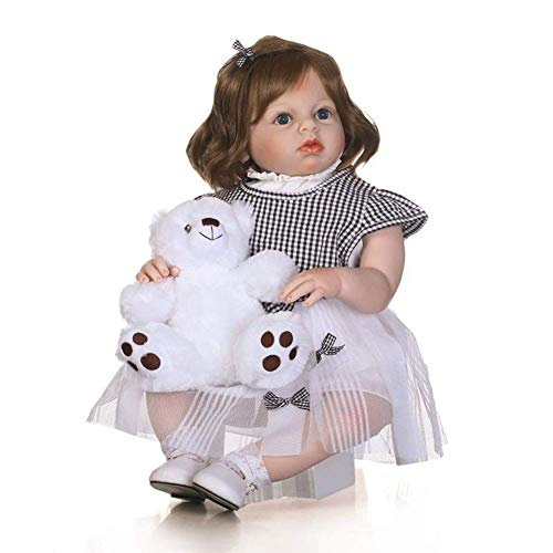 WYZQ Reborn Dolls, Rebirth Doll, Completo de Silicona, simulacin, Disfraz, Modelo, mueca, Accesorios de fotografa, decoracin para acompaar al beb, Regalo de 70 cm, muecas de crianza