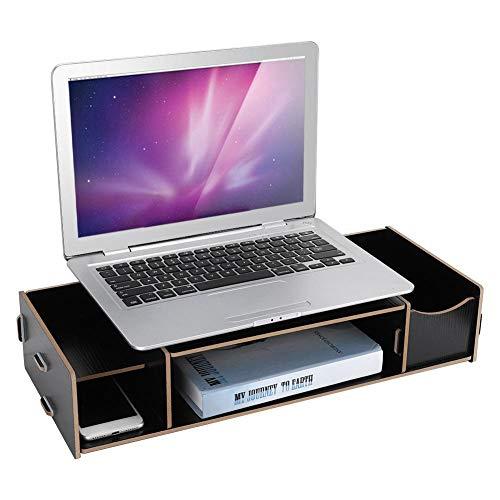 ASHATA Rack monitorstandaard voor plankstandaard voor display-toetsenbord-basishouder vergroten, zwart