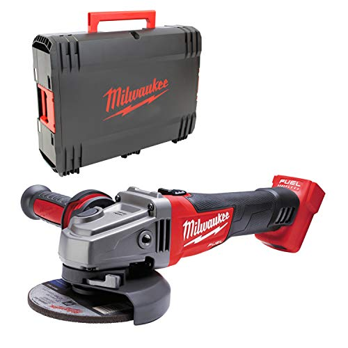 Milwaukee M18 CAG-125X/0 haakse slijper met accu, in HD-box