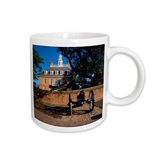 3dRose 147723_2 Governors Palace, Williamsburg, Virginia Mug, 15 oz, Ceramic
