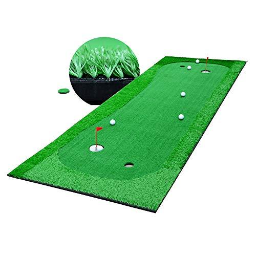 BZZBZZ - Juego de golf de casa para uso doméstico, juego de exterior verde automático, plegable para interiores, portátil, plegable con taza verde y pequeña bandera roja – 100 x 300 cm