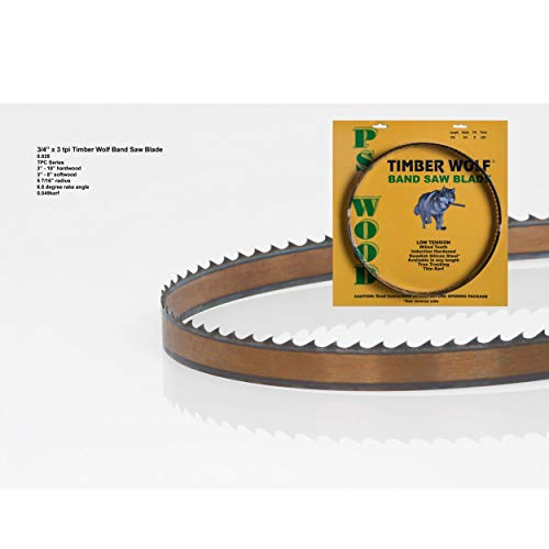 Timber Wolf Bandsaw Blade 3/4' x 93-1/2', 3 TPI