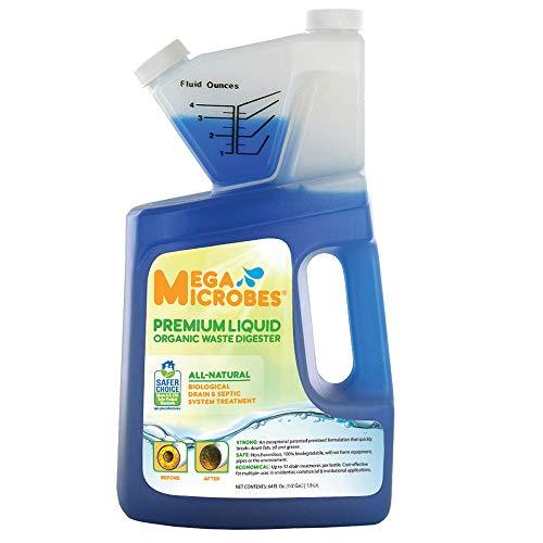 MegaMicrobes MML-5GL MML-64FL No-Mixing Liquid Drain, Septic, Trap and Pump Treatment, 64-Ounce Bottle