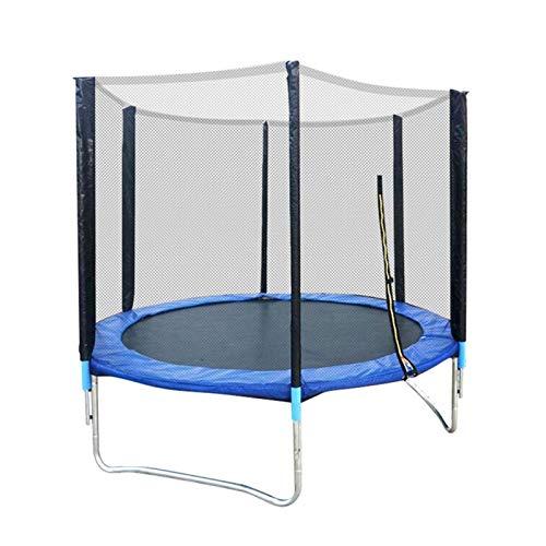 Youpin Cama elástica para niños de 1,8 m con malla de salto y cubierta de resorte acolchada para saltar, cama elástica para saltar (color: azul)