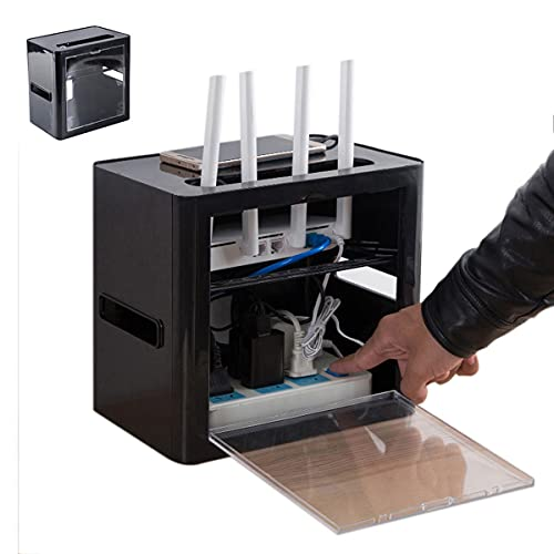 PPGE Home Caja Router WiFi, Caja de Almacenamiento para Router y Cables,...
