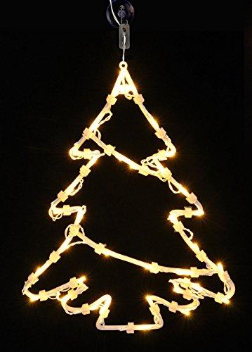Fensterbild Weihnachtsbaum 35 LED - Fensterdeko mit Timer - Tanne beleuchtet