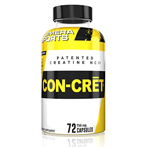 Promera Sports, CON-CRET Creatine HCl Powder, Micro-Dose Creatine, No Bloating, No Upset Stomach, No Water Retention, No Loading, Made in USA, Gluten-Free (Capsules)