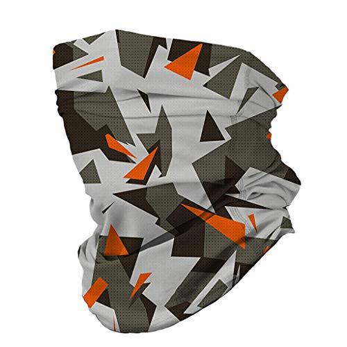 GreatestPAK 1 Stück Halsmanschette Halstuch 12 In 1 Multifunktional Kopfbedeckung Mundschutz Stirnband Nackenschutz,G,96x24cm